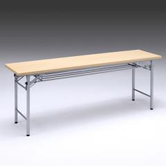 折りたたみ会議デスク(幅1800×奥行450×高さ700mm・メープル木目)