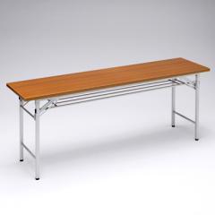 折りたたみ会議デスク(幅1800×奥行450×高さ700mm・木目)