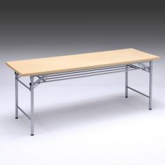 折りたたみ会議デスク(幅1800×奥行600×高さ700mm・メープル木目)